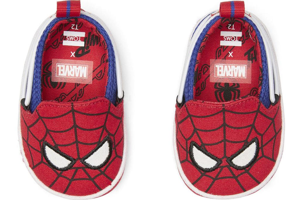 pair of Spiderman baby shoes