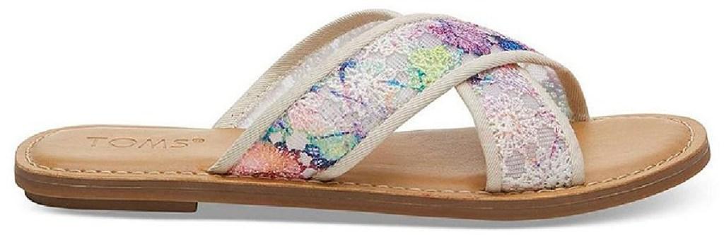 toms womens floral sandals