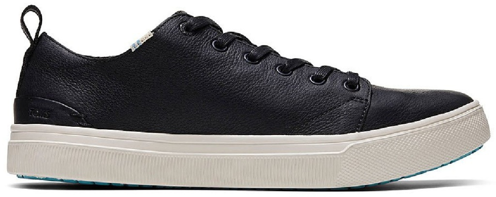 toms men's leather lace up sneaker
