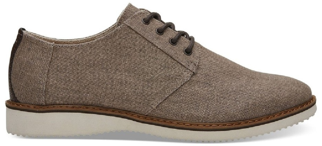 toms men's brown canvas style oxford