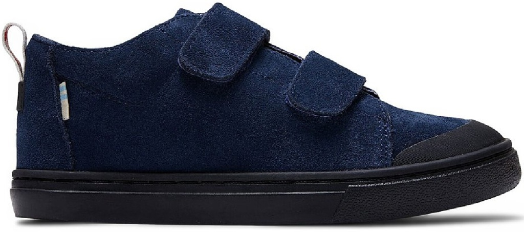 blue suede 3 strap toms kids sneakers