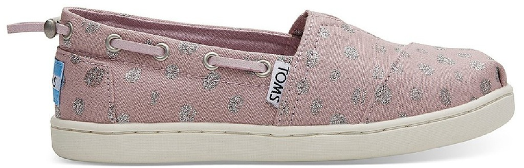 toms pink and mauve colored girls slip on shoes