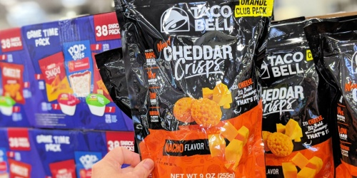Taco Bell Cheddar Crisps Only $9.98 at Sam's Club | Keto Friendly Snack