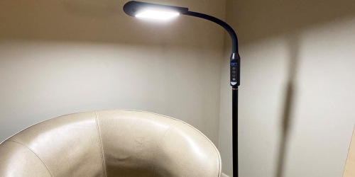 LED Floor Lamp Just $39.59 Shipped on Amazon   Adjustable Neck & Light Settings