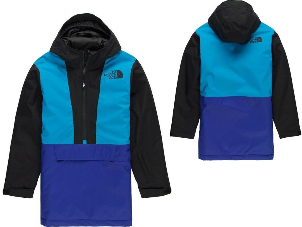 front and back view of boys anorak jacket