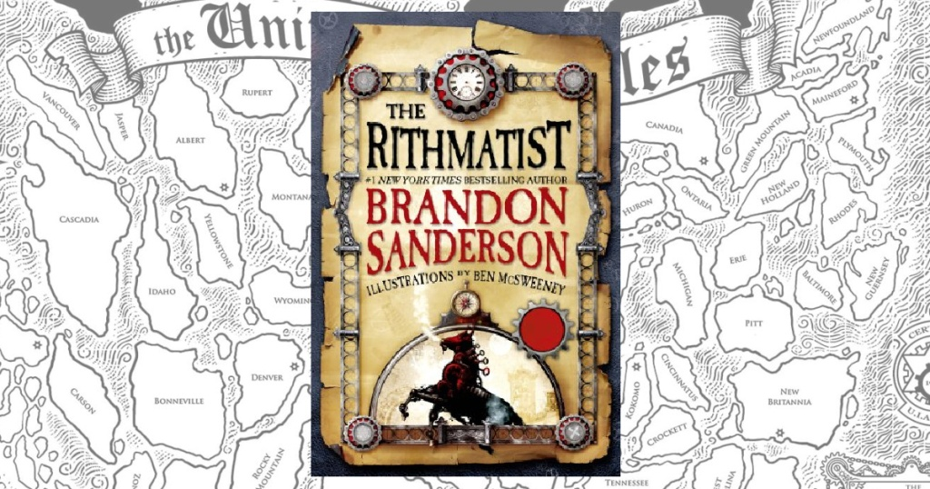 The Rithmatist Kindle eBook Book with a map in the background