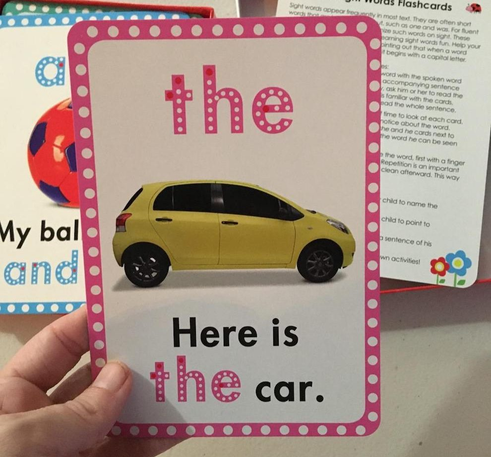 The Sight word flash card
