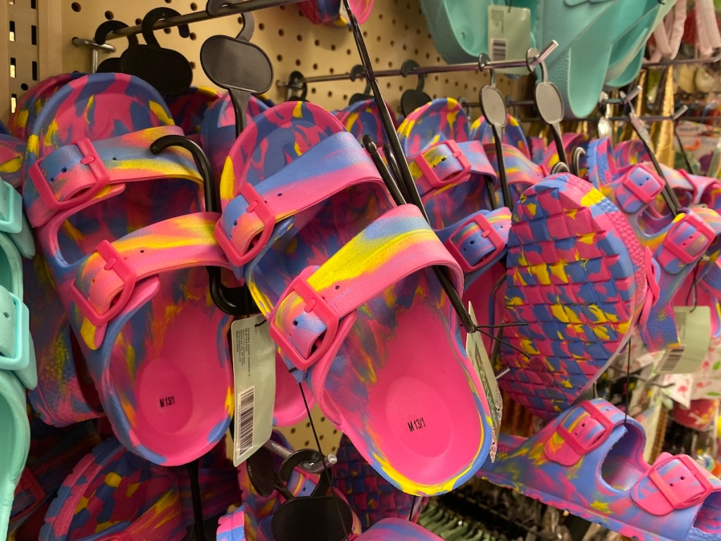 display of sandals at Hobby Lobby