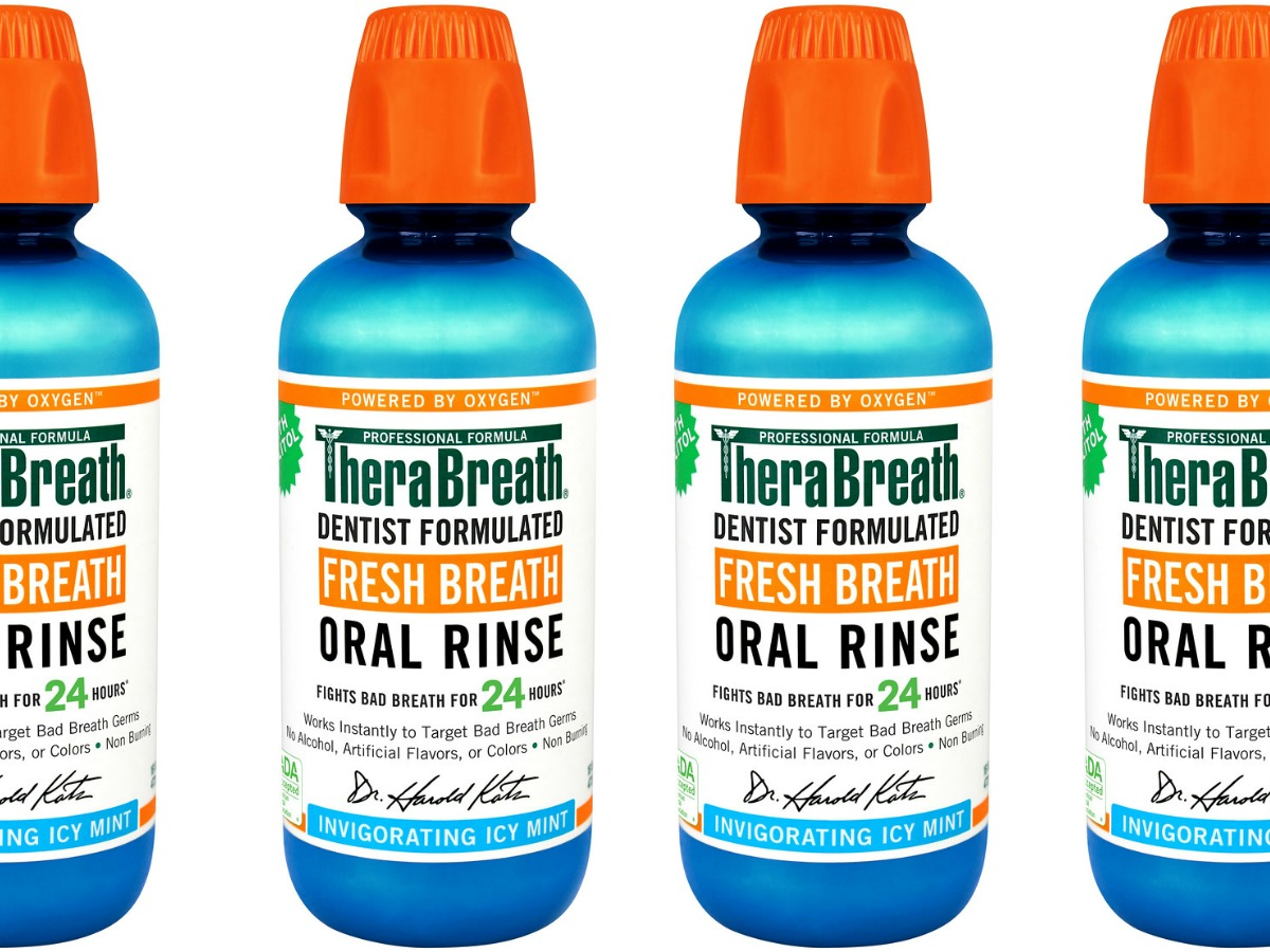 stock images of fresh breath oral rinse