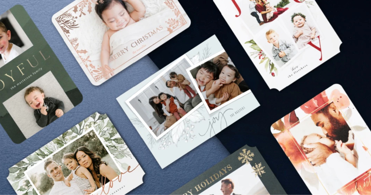 multiple tiny prints holiday cards