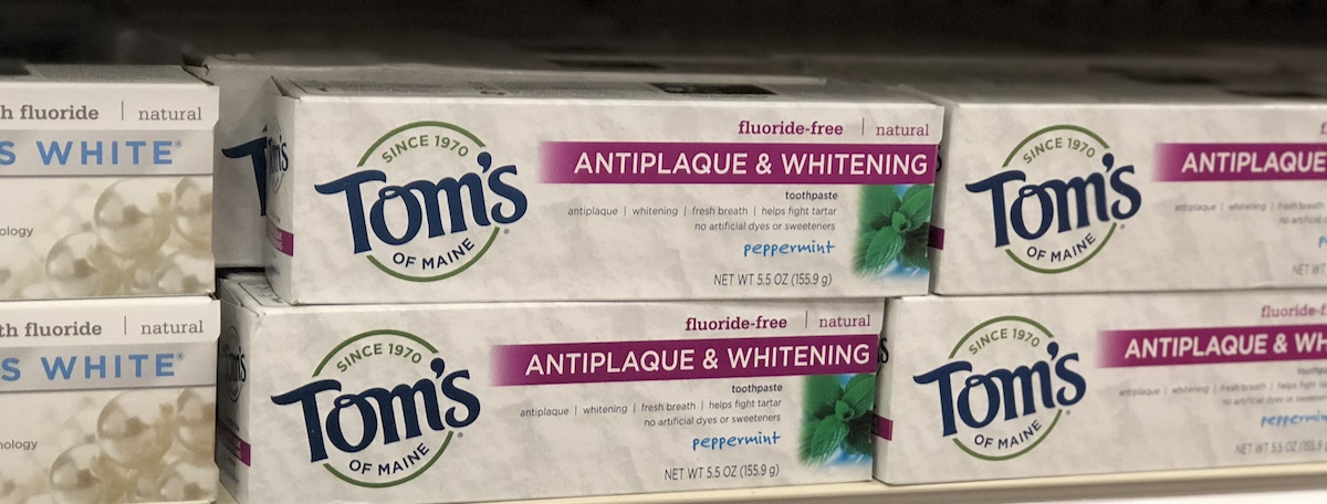 toothpaste on shelf at Target