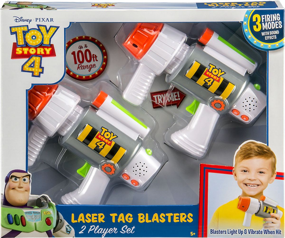 box of Toy Story 4 Laser Tag Blasters 2-Player Set