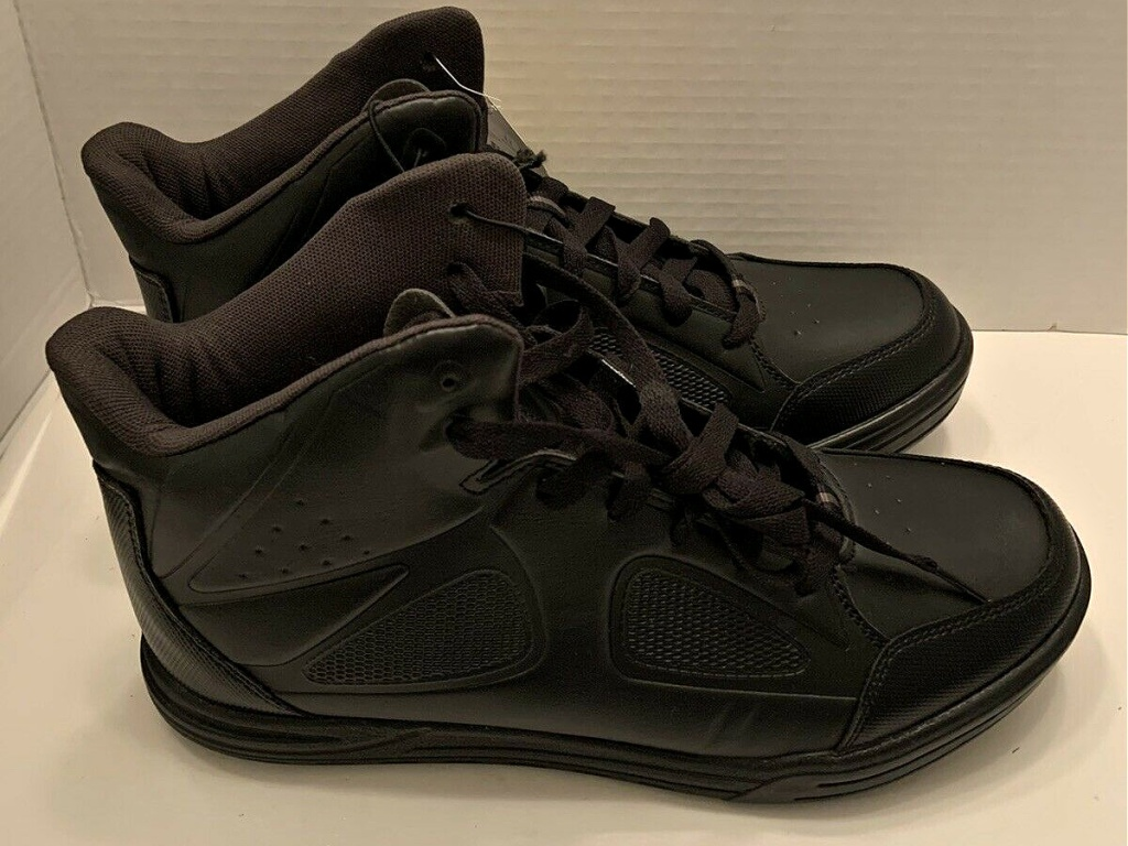 men's black work shoes