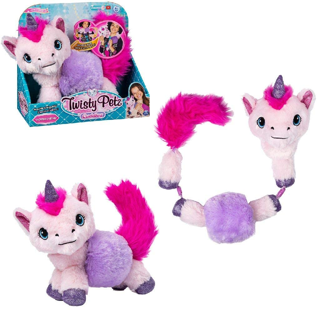 Twisty Petz Unicorn shown in all transformations