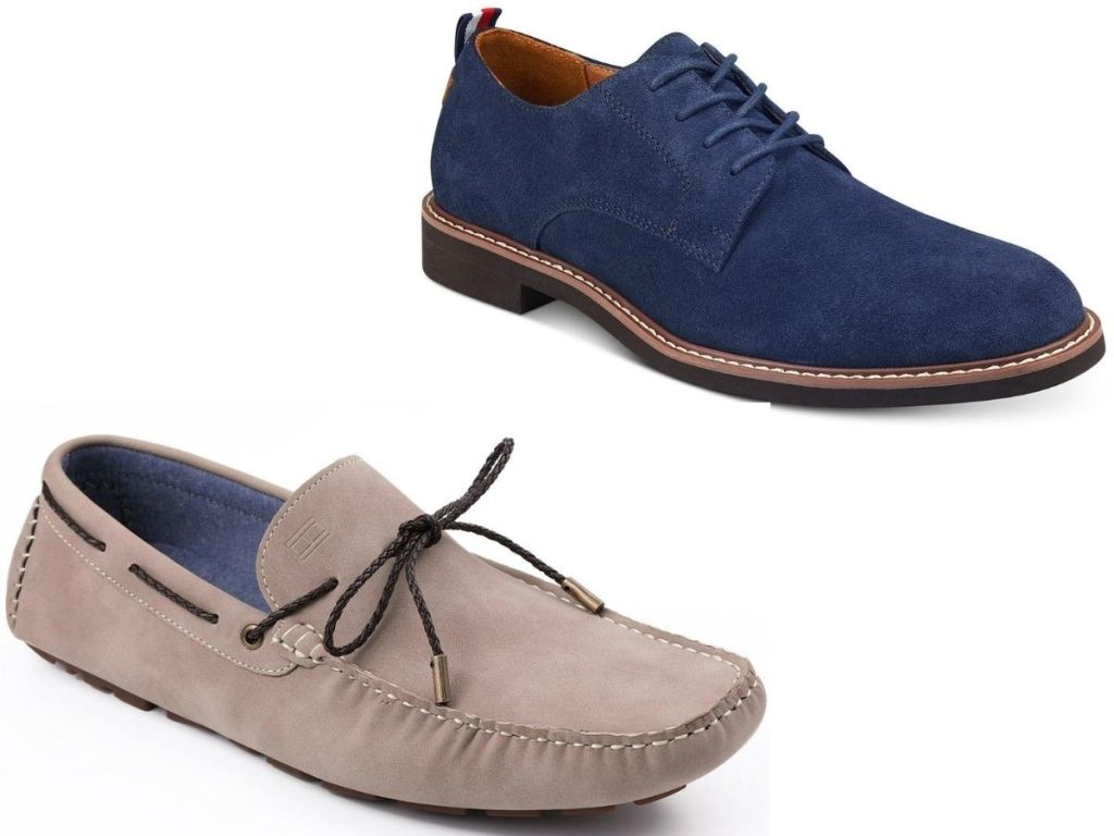 two pairs of men's shoes