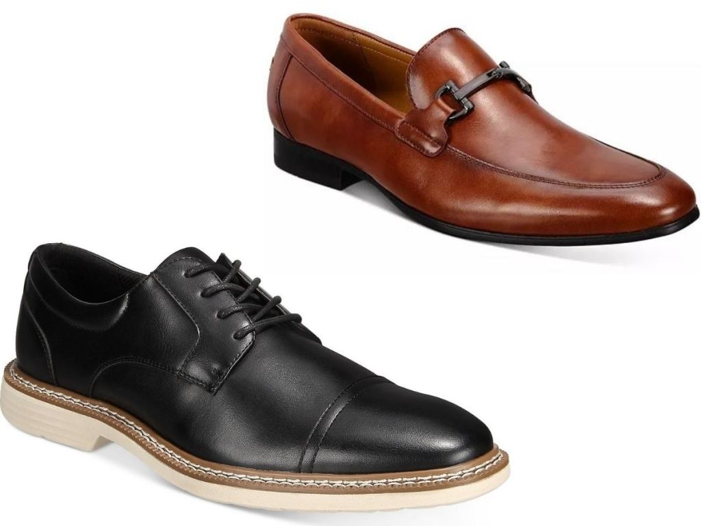two pairs of men's loafers