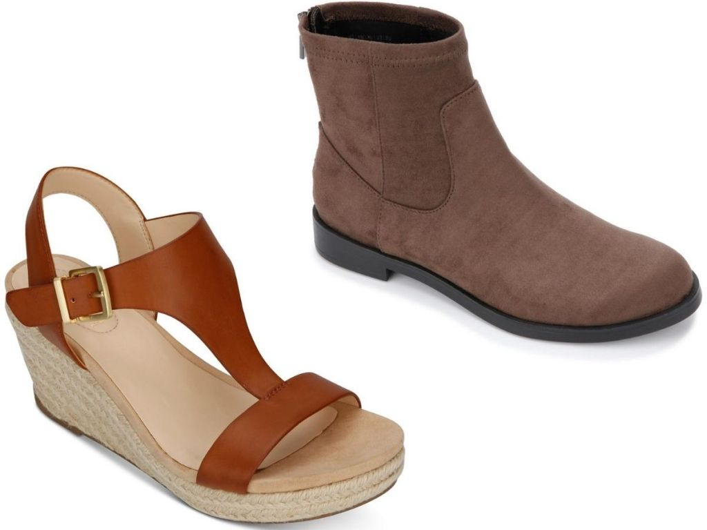 two pairs of women's shoes