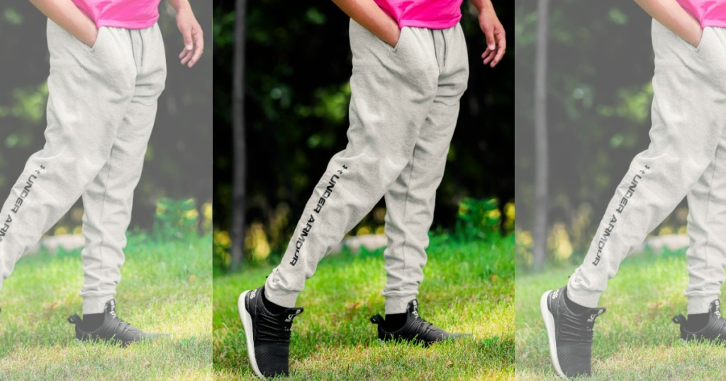 man wearing Under Armour joggers