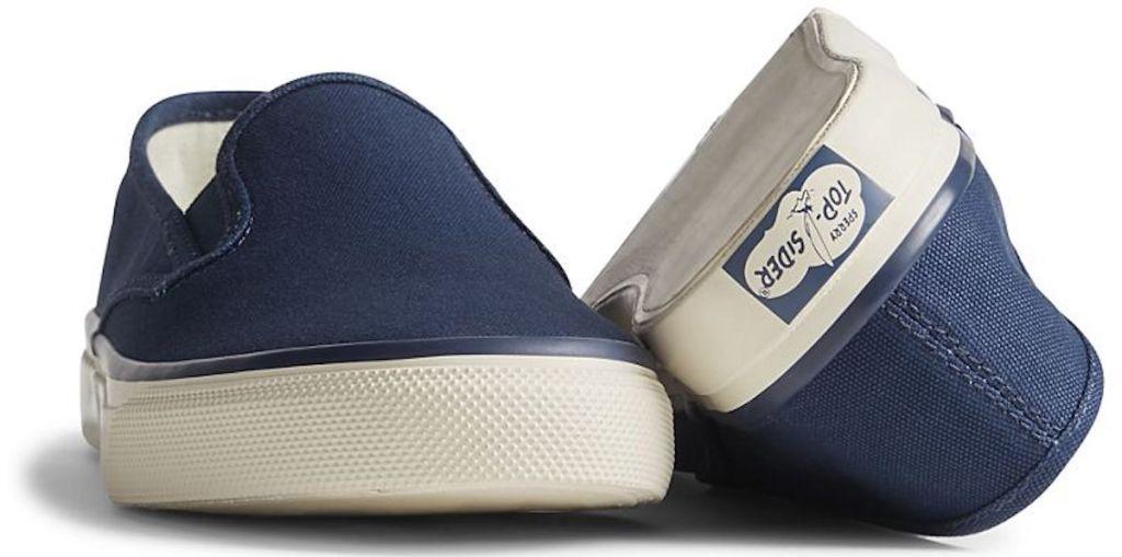dark blue pair of Unisex Cloud Slip On Deck Sneaker