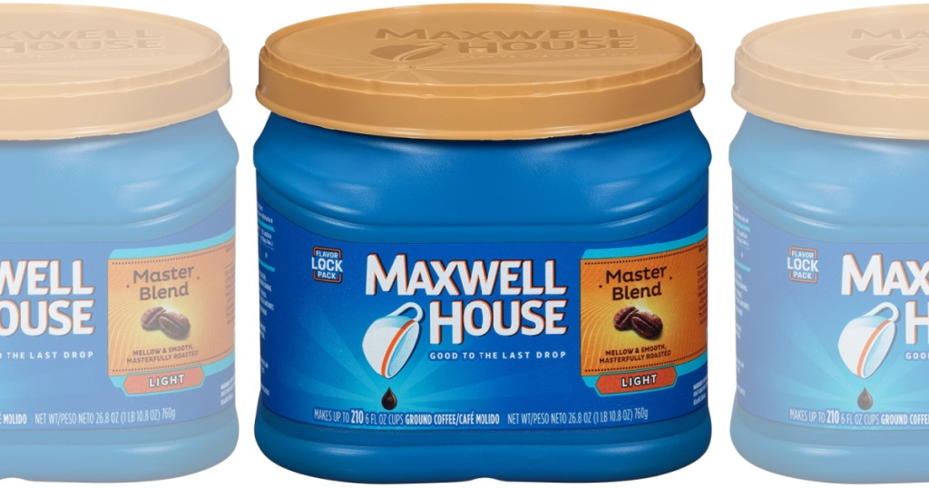 maxwell house coffee master blend light times three