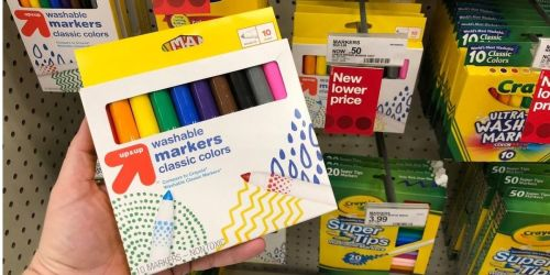 Up & Up Washable Markers 10-Count Just 50¢ at Target | In-Store & Online