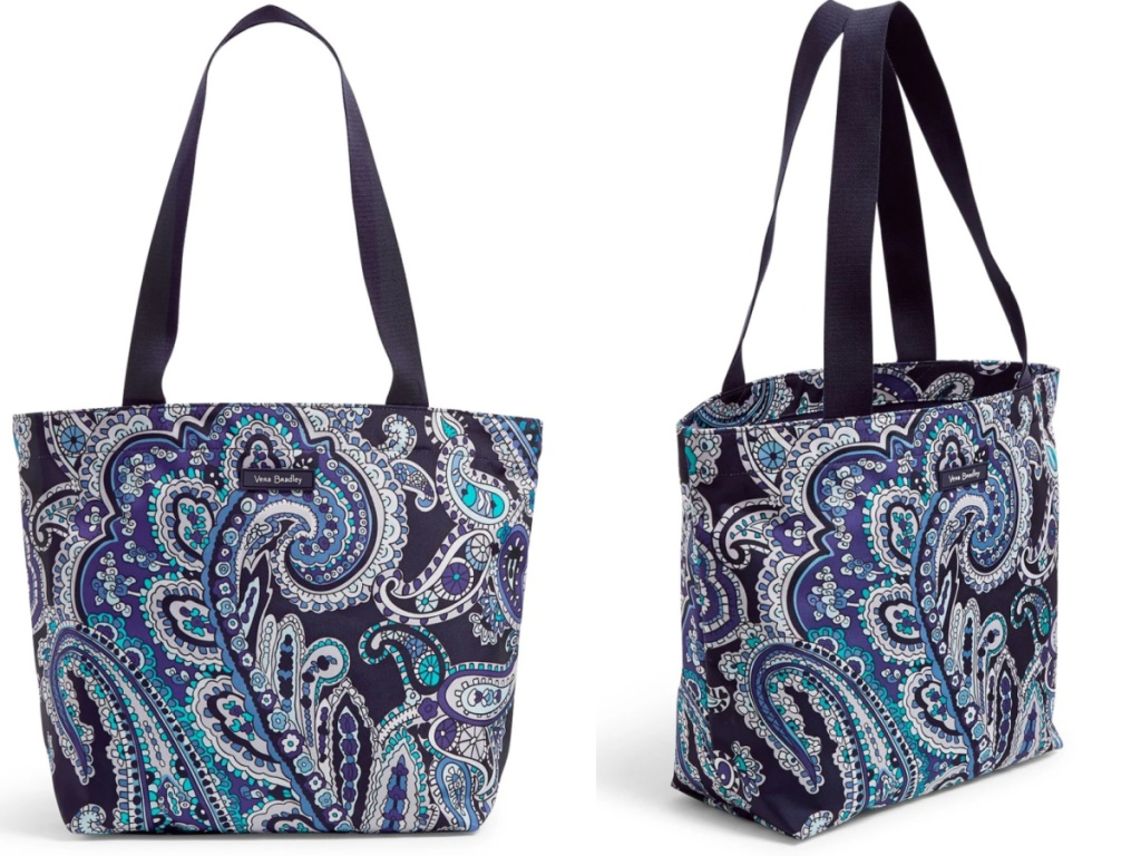 vera bradley shoppers tote front and side facing