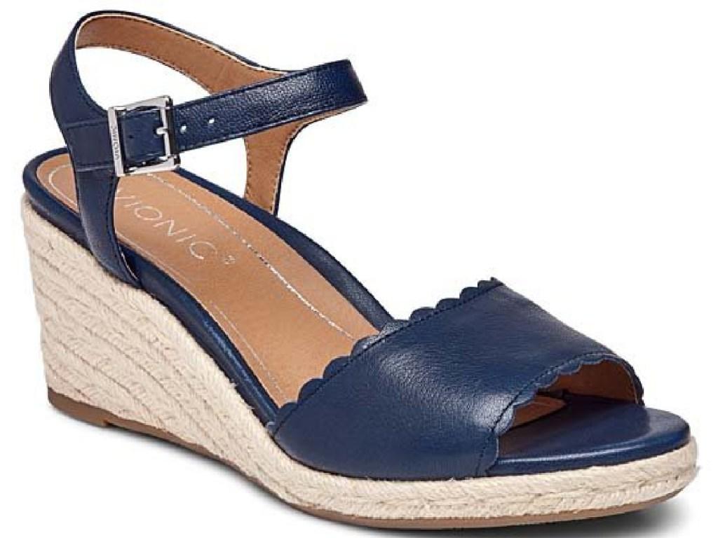 Vionic Stephany Leather Espadrille Sandals