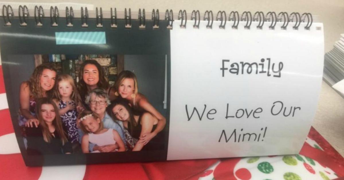 family photo on walgreens desk top calendar