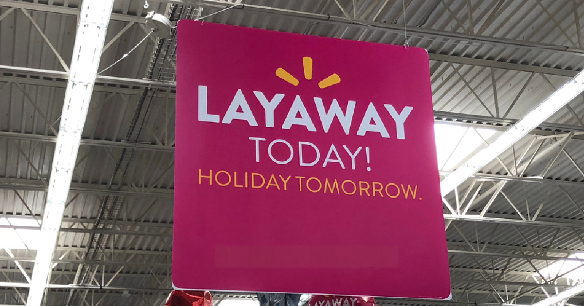 pink layaway sign hanging in store