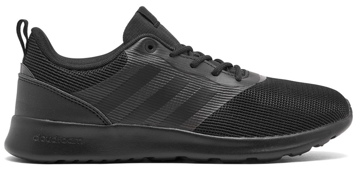 One black shoe. It is the women's adidas cloudfoam sneaker