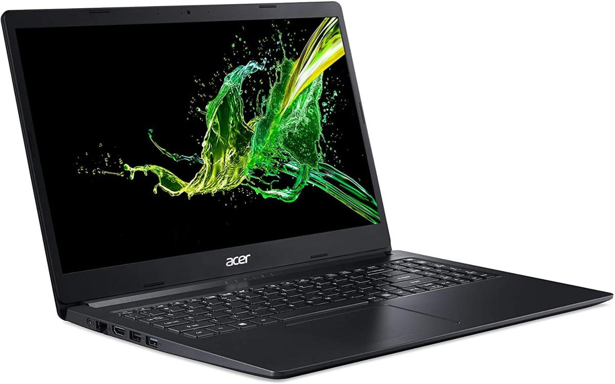 open Acer Aspire laptop