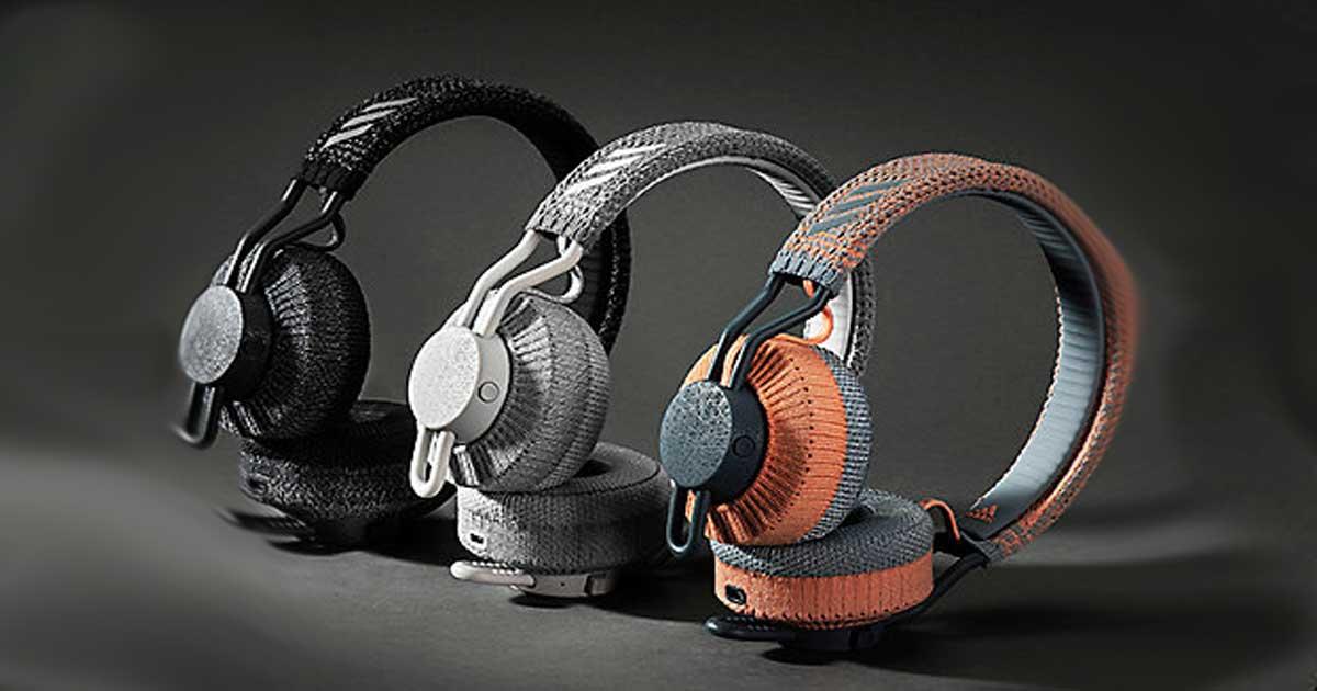 headphones in cool colors