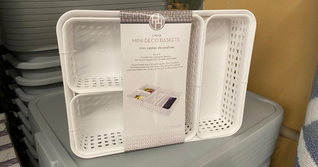 Huntington Home Mini Deco Baskets