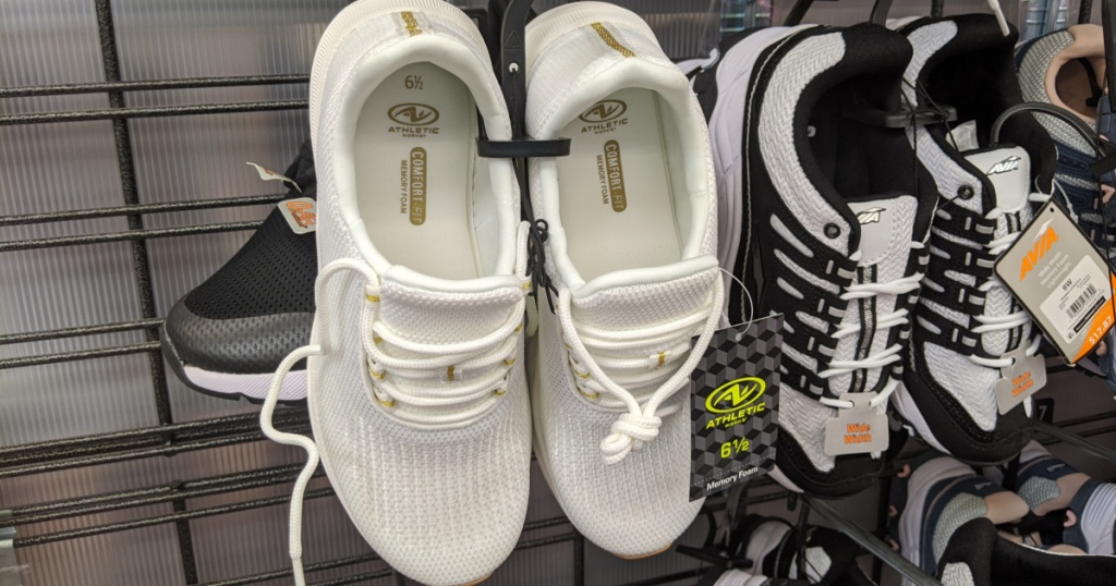 athletic works womens white sneakers