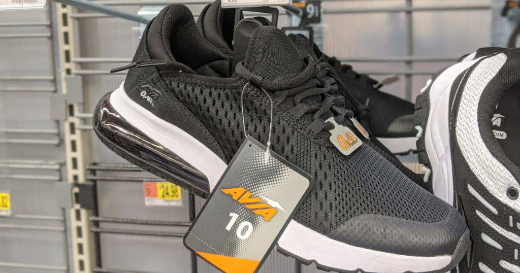 avia black and white womens running shoes