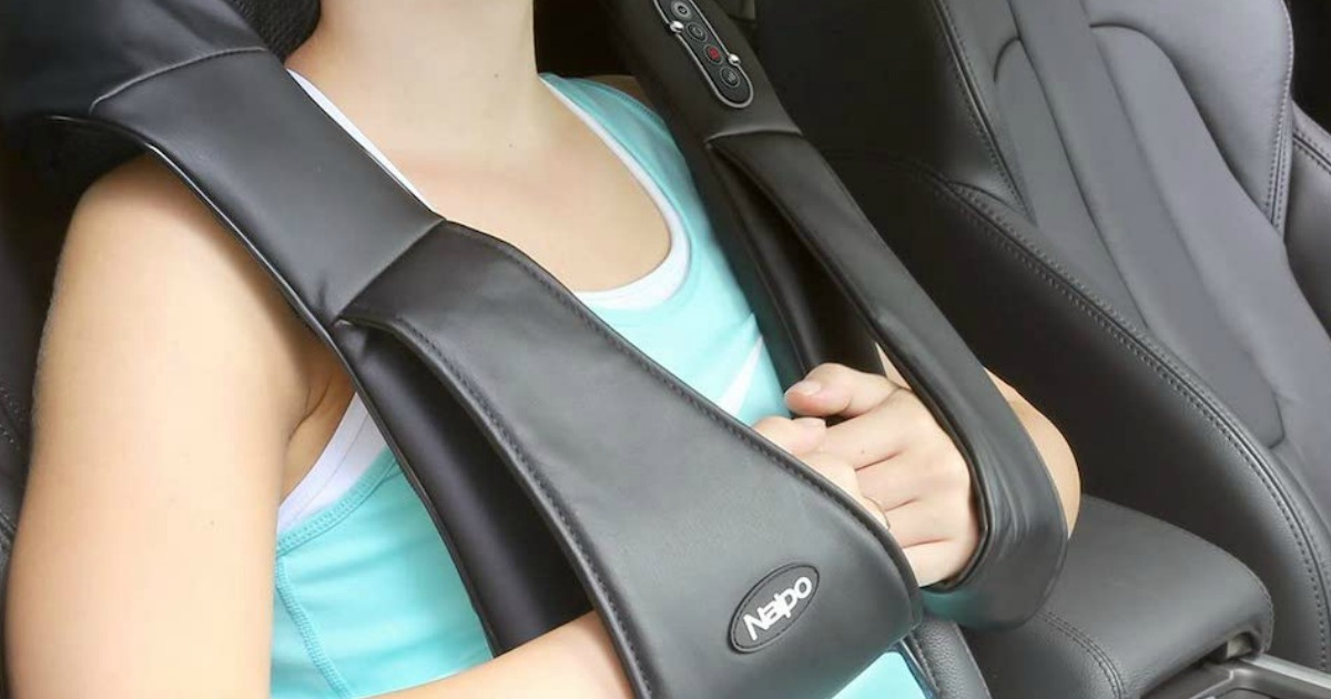 Back & Neck Massager w/ Heat Only $29.99 Shipped on Amazon (Great for the Car & at Home!)