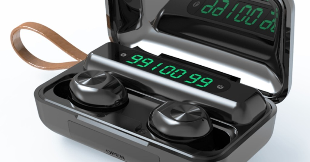 bluetooth earbuds in charging case