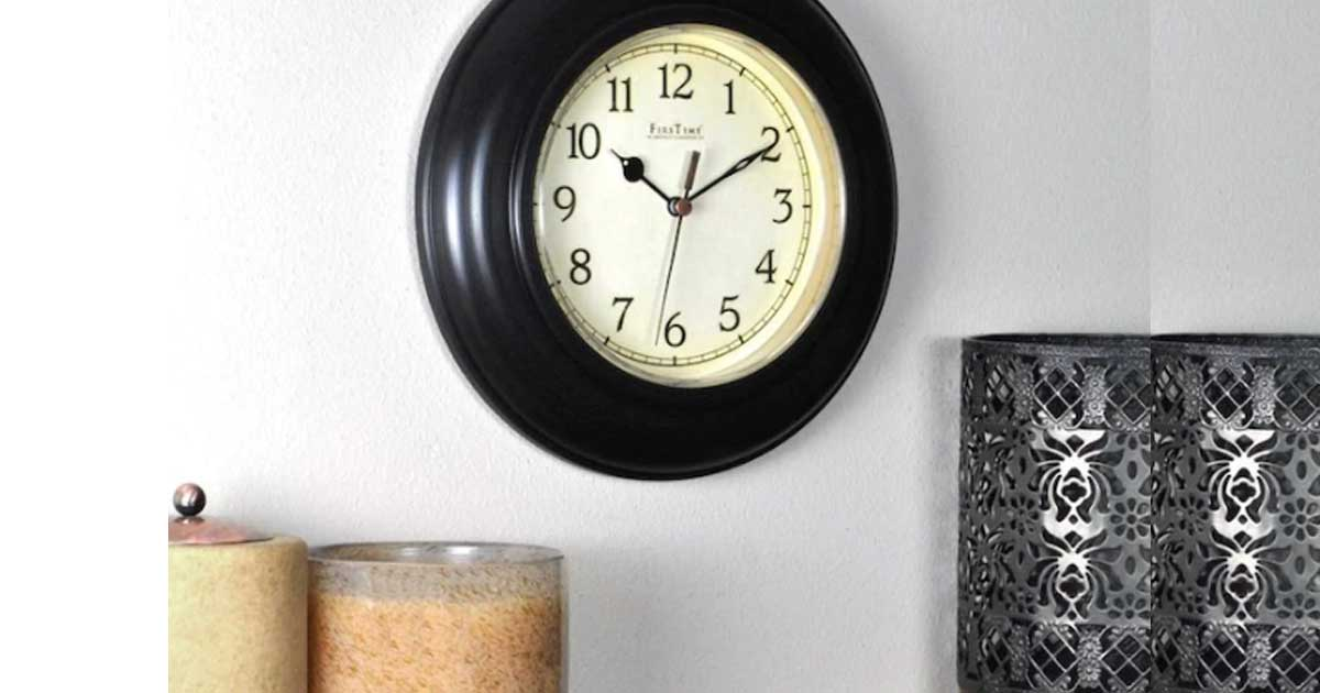 wall clock on the wall