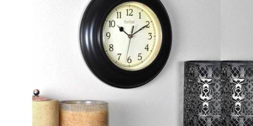 Wall Clocks from $3.56 Shipped on Lowe's.com