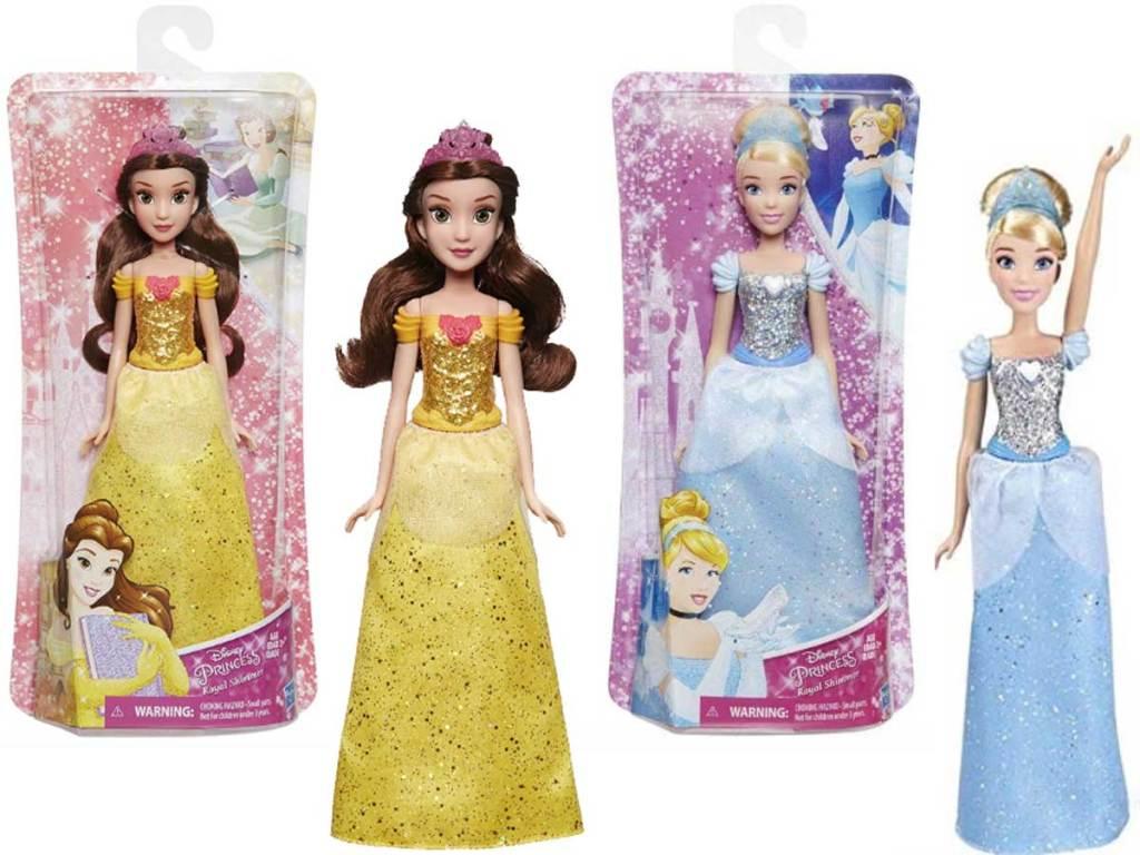 disney princesses belle and cinderella dolls
