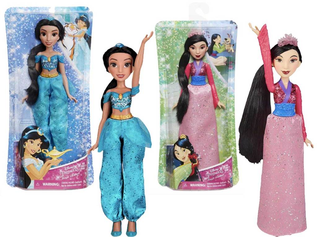 disney princess dolls jasmine and mulan