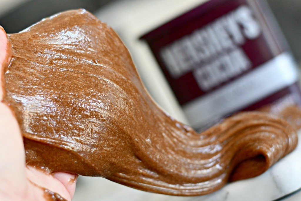 brown slime made with Hershey's cocoa