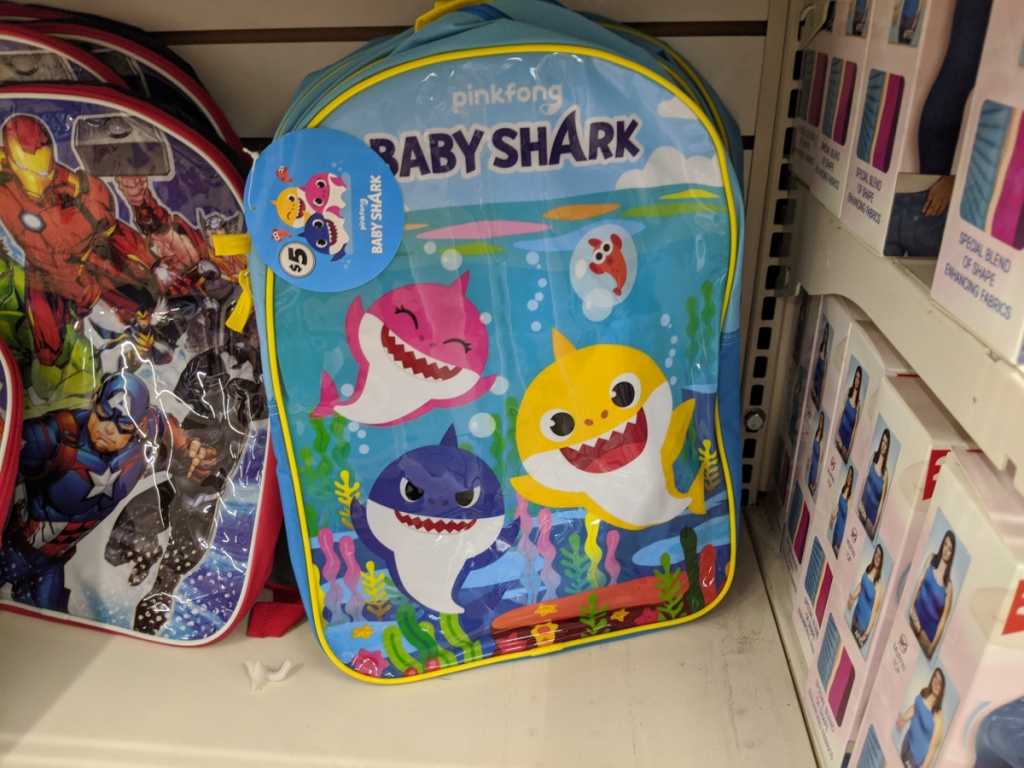 pinkfong baby shark backpack