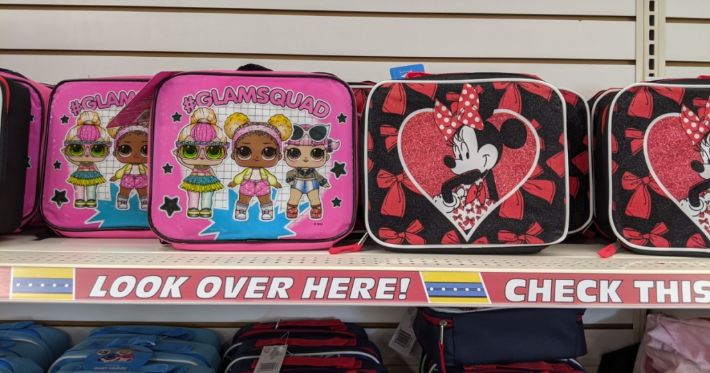 lol lunchbox and minnie mouse lunchbox
