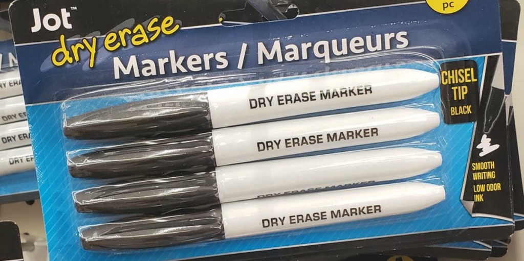 package of dry erase markers