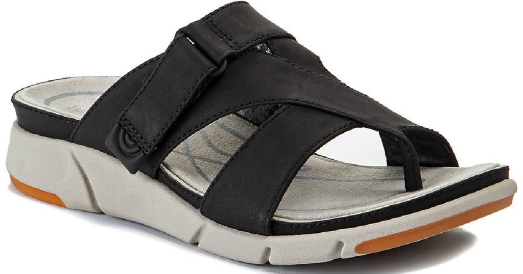 black sporty sandals