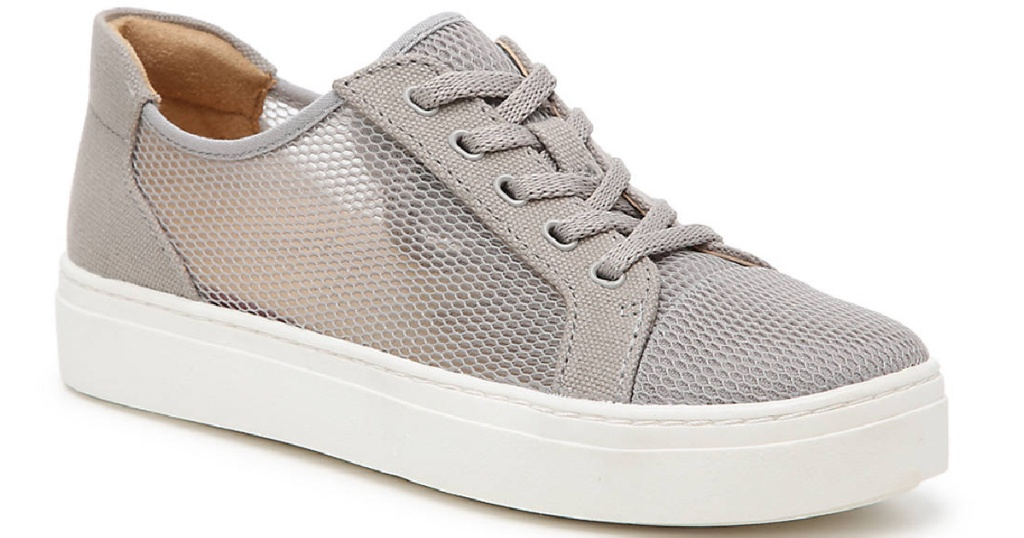gray mesh lace up shoes