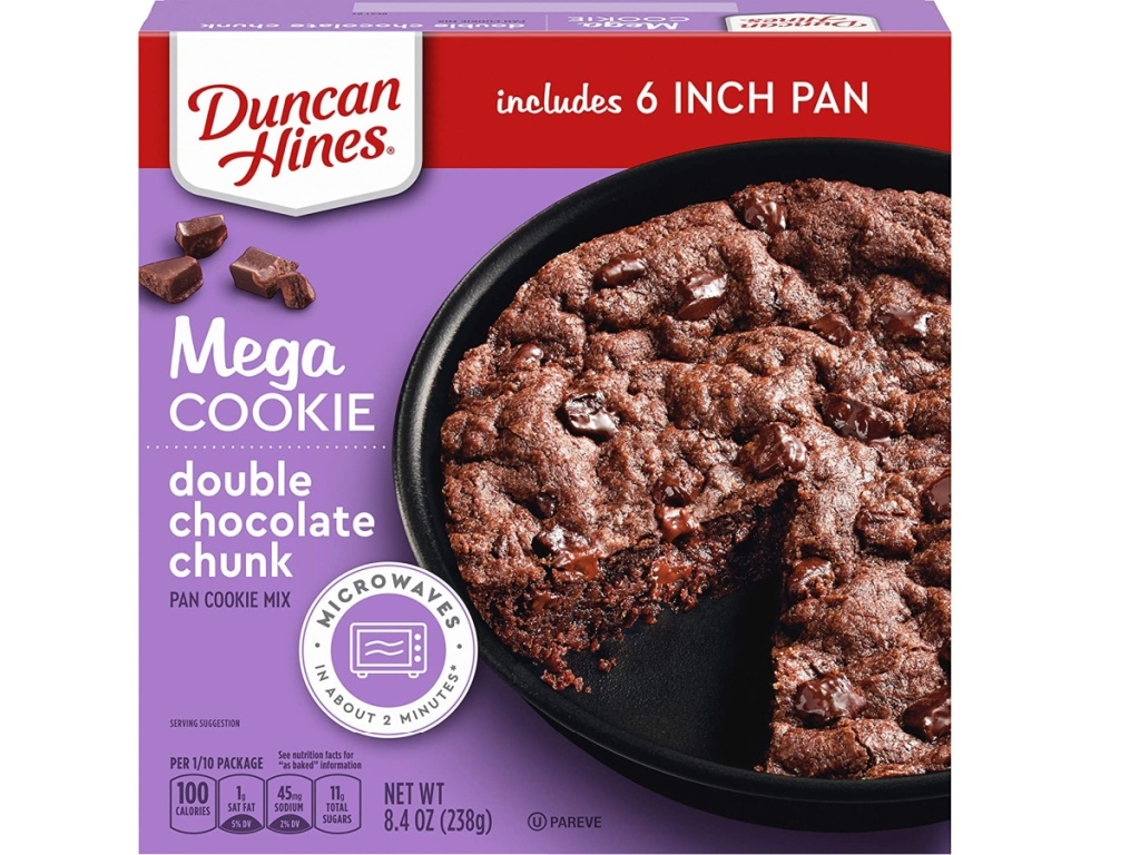 Duncan Hines Mega Cooke double chocolate chunk