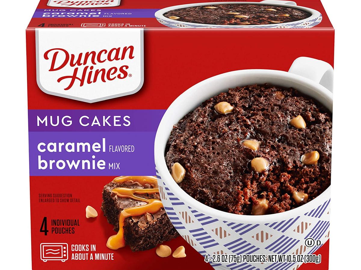 duncan hines mug cake in box