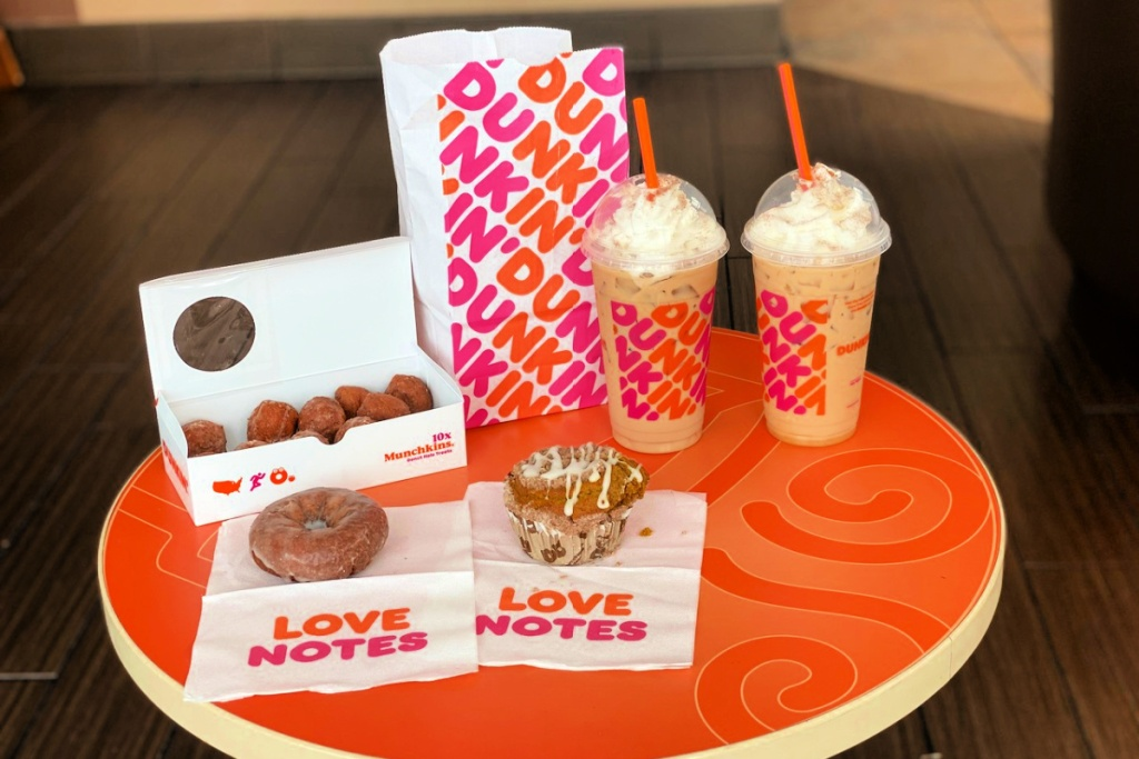 dunkin donut fall foods and drinks